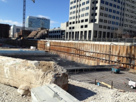 Construction of the Northwestern Mutual Tower and Commons.