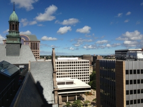 A view from the roof of City Hall.