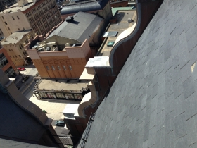 Looking down from City Hall.