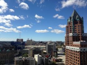 The Milwaukee Center is seen.