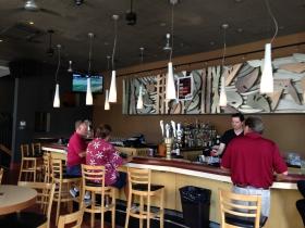 Tony Feldtkeller works the bar