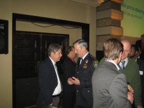 Ald. Michael Murphy (l), Chief Edward Flynn (r). Photo by Michael Horne.
