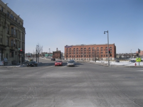 Intersection of N. Water and E. Knapp streets - looking west.