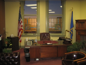The Common Council President's office is on the northwest corner of the second floor of City Hall.