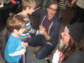Kids hanging with Mark Borchert.