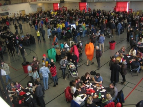 Over 3,600 people came out to taste the chili.