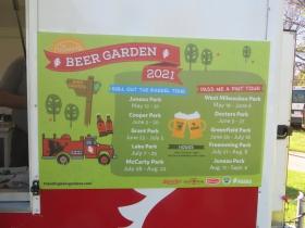 Beer garden schedule
