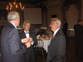 Mayor Tom Barrett and Barry Mandel. Photo by Michael Horne.