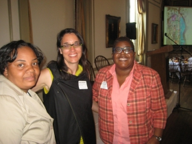 Ald. Milele Coggs, Sara Daleiden, and Kimberly Driggins. Photo by Michael Horne.