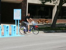 Bublr Bikes Rider