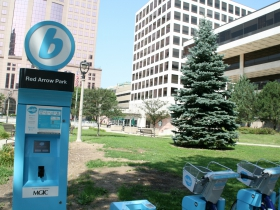 Bublr Bikes at Red Arrow Park