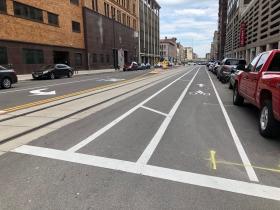 Broadway Buffered Bike Lane