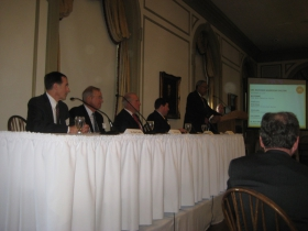 The panelists included, at left, Aurora CEO and House Confidential honoree Dr. Nick Turkal.