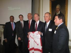 John Daniels, Nick Turkal, Ted Kellner, Bill Downe, Paul Purcell and Peter Feigin.