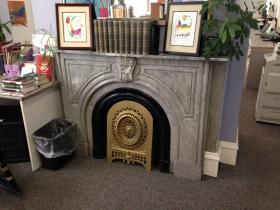 Fireplace inside the Grand Avenue Club