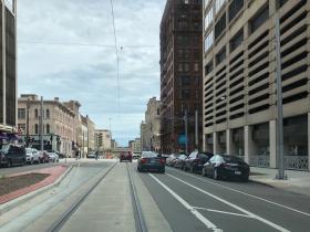 Driving in Bike Lane
