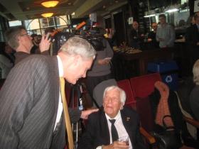 Ald. Bob Bauman and Michael Cudahy.