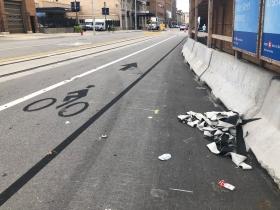 Removed Broadway Bike Lane