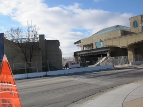 The Downtown Transit Center is being demolished.