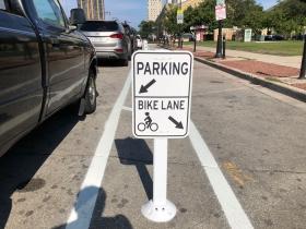 Protected Bike Lane Signage