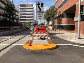 Poor Station Design without Bike Lane