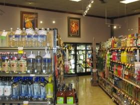 Liquor department inside Metro Market
