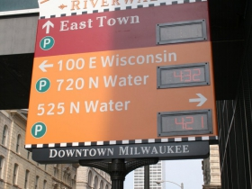 E. Michigan St. Parking Sign