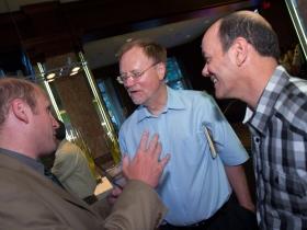 Alderman Nik Kovac, Bruce Murphy, and Jeff Bentoff