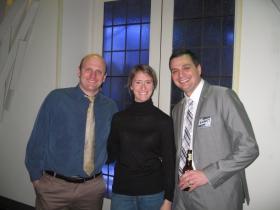 Nik Kovac, Grace Fuhr and Tim Kenney