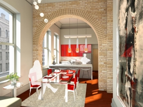 Mackie Building Kitchen Rendering