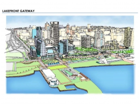 Lakefront Gateway from 2010 Downtown Plan