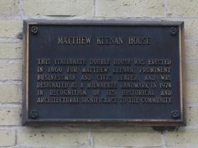Matthew Keenan House marker