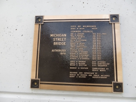 1976 Michigan Street Bridge Plaque