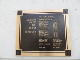 2019 Michigan Street Bridge Plaque