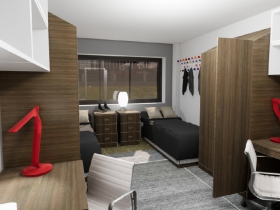 Viets Tower Room Rendering