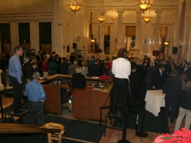 Crowd before Press Conference