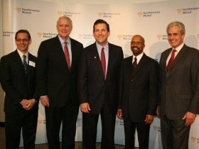 CEO John Schlfiske (center) with Jim Bohl, Tom Barrett, Willie Hines, Jr., and Robert Bauman