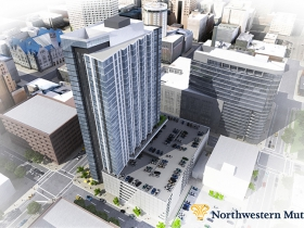 Northwestern Mutual residential - Above looking southwest