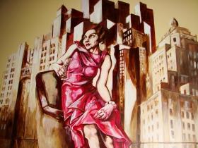 Mural at Hotel Metro.