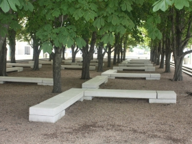 Peck Pavilion chestnut grove
