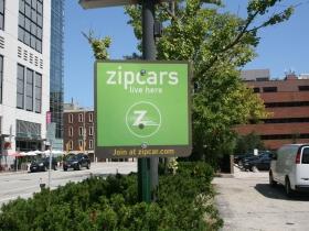 Zipcars at 732 N. Jefferson St.