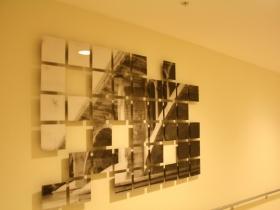 Art in the hallway of the Marriott.