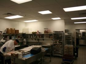 The kitchen in the Marriott.
