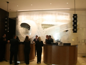 Front desk of the Marriott.