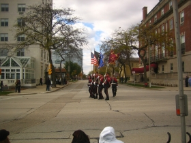 Marching in the Veterans Day Parade.