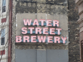 Water Street Brewery Sign