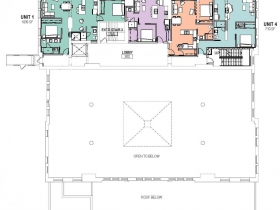 Proposed Mackie Building level three plan.