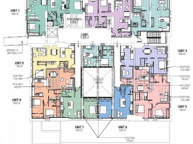 Proposed Mackie Building level five plan.