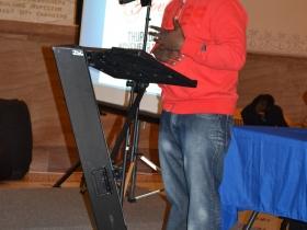The night's host local poet Kwabena Antoine Nixon