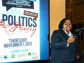 Alderwoman Milele Coggs performs